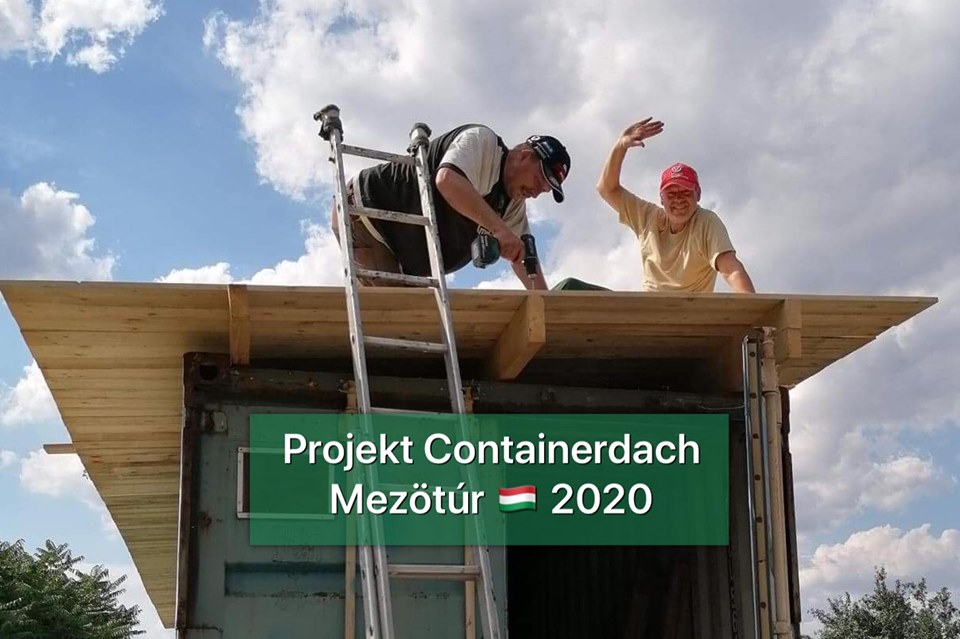 Projekt Containerdach Mezötúr 2020